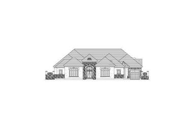 4-Bedroom, 4321 Sq Ft Tuscan Home Plan - 156-2418 - Main Exterior