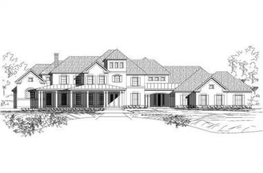 5-Bedroom, 5658 Sq Ft Contemporary House Plan - 156-2420 - Front Exterior