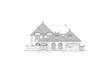 5-Bedroom, 5079 Sq Ft French House Plan - 156-2424 - Front Exterior