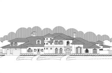 4-Bedroom, 8215 Sq Ft Luxury Home Plan - 156-2426 - Main Exterior