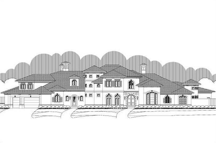 4-Bedroom, 8215 Sq Ft Luxury Home Plan - 156-2426 - Main Exterior