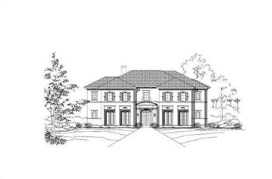 4-Bedroom, 5629 Sq Ft Country Home Plan - 156-2427 - Main Exterior