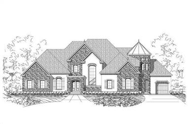 4-Bedroom, 6192 Sq Ft Country Home Plan - 156-2428 - Main Exterior