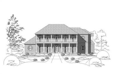 4-Bedroom, 6030 Sq Ft Colonial House Plan - 156-2429 - Front Exterior