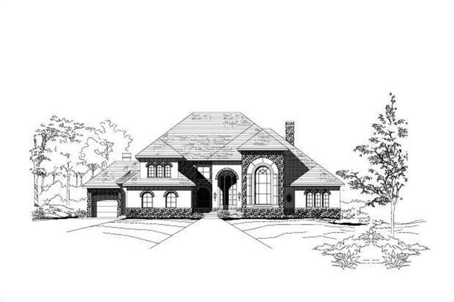 4-Bedroom, 6502 Sq Ft Luxury House Plan - 156-2430 - Front Exterior