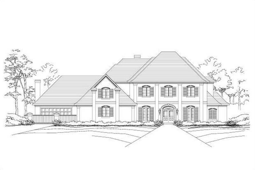 4-Bedroom, 6090 Sq Ft Luxury House Plan - 156-2434 - Front Exterior