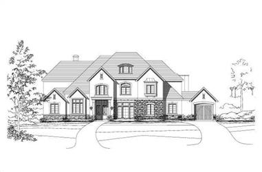 4-Bedroom, 5414 Sq Ft Country Home Plan - 156-2436 - Main Exterior
