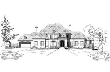 4-Bedroom, 6009 Sq Ft Country House Plan - 156-2437 - Front Exterior