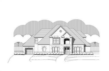 5-Bedroom, 4600 Sq Ft French House Plan - 156-2439 - Front Exterior