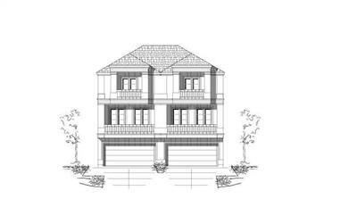 3-Bedroom, 2362 Sq Ft Multi-Unit Home Plan - 156-2441 - Main Exterior