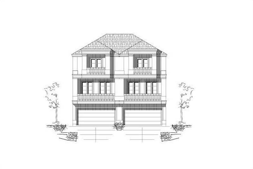 3-Bedroom, 2362 Sq Ft Multi-Unit Home Plan - 156-2441 - Main Exterior