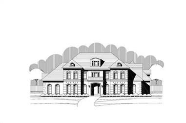 4-Bedroom, 5820 Sq Ft Luxury Home Plan - 156-2442 - Main Exterior