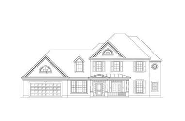 5-Bedroom, 3593 Sq Ft Luxury House Plan - 156-2443 - Front Exterior