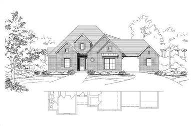 4-Bedroom, 3581 Sq Ft Luxury House Plan - 156-2445 - Front Exterior