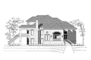 1-Bedroom, 5302 Sq Ft Mediterranean House Plan - 156-2446 - Front Exterior