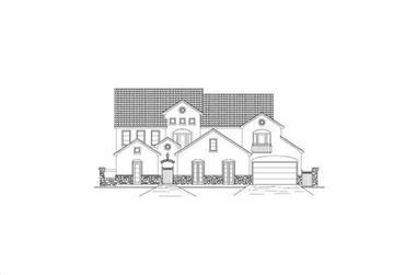 6-Bedroom, 5494 Sq Ft Luxury House Plan - 156-2448 - Front Exterior