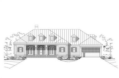 6-Bedroom, 5408 Sq Ft Country Home Plan - 156-2450 - Main Exterior