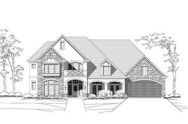 4-Bedroom, 4345 Sq Ft Country Home Plan - 156-2451 - Main Exterior