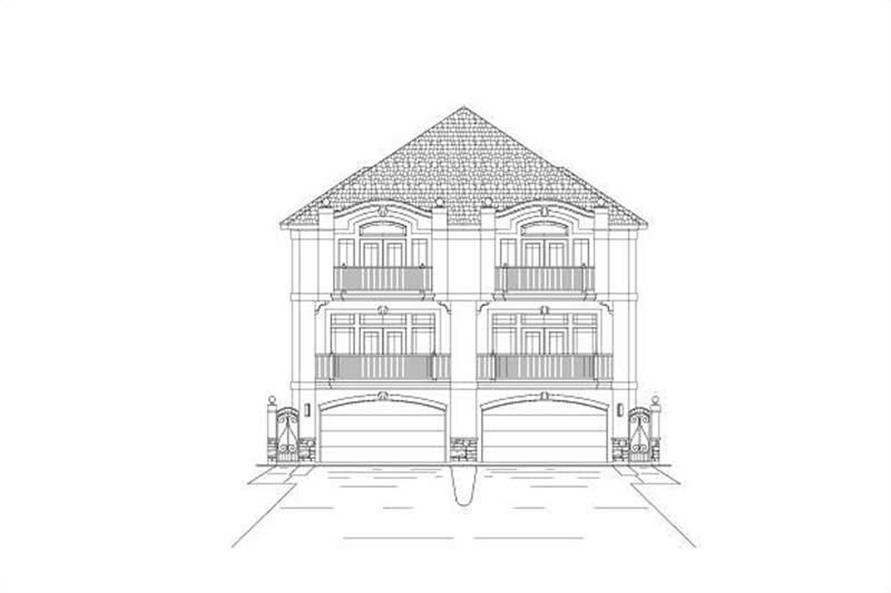 Front elevation of Multi-Unit home (ThePlanCollection: House Plan #156-2453)