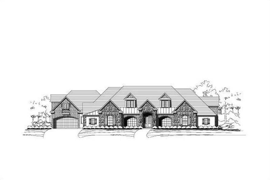 4-Bedroom, 6888 Sq Ft Craftsman Home Plan - 156-2454 - Main Exterior