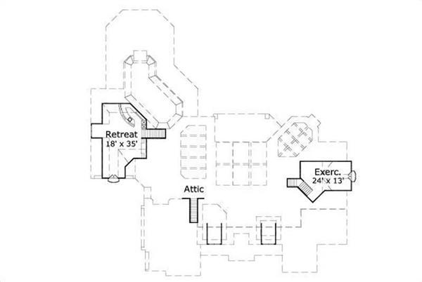 HOME PLAN NUMBER 30989 SECOND STORY FLOOR PLAN