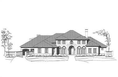 4-Bedroom, 7229 Sq Ft Mediterranean Home Plan - 156-2455 - Main Exterior