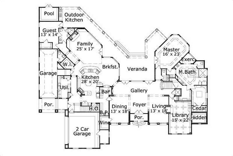 HOME PLAN NUMBER 113 FIRST STORY FLOOR PLAN