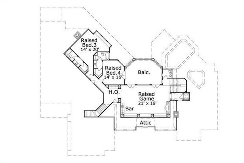 HOME PLAN NUMBER 113 SECOND STORY FLOOR PLAN