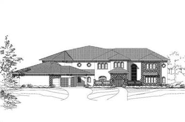 5-Bedroom, 7432 Sq Ft Spanish Home Plan - 156-2457 - Main Exterior