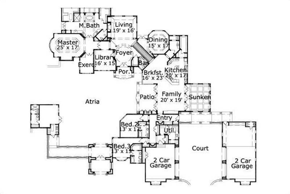 HOME PLAN NUMBER 196 FIRST STORY FLOOR PLAN