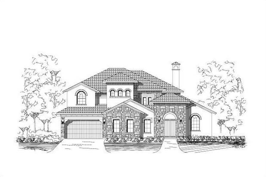 4-Bedroom, 3914 Sq Ft Spanish Home Plan - 156-2459 - Main Exterior