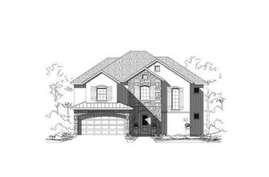 4-Bedroom, 3111 Sq Ft Country Home Plan - 156-2460 - Main Exterior