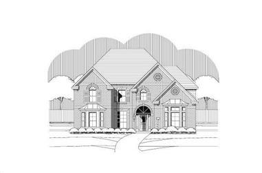 5-Bedroom, 4233 Sq Ft Luxury Home Plan - 156-2461 - Main Exterior