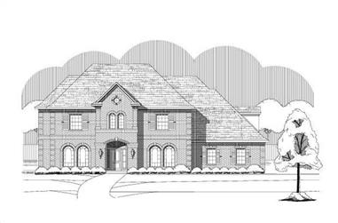 4-Bedroom, 4292 Sq Ft Luxury Home Plan - 156-2462 - Main Exterior