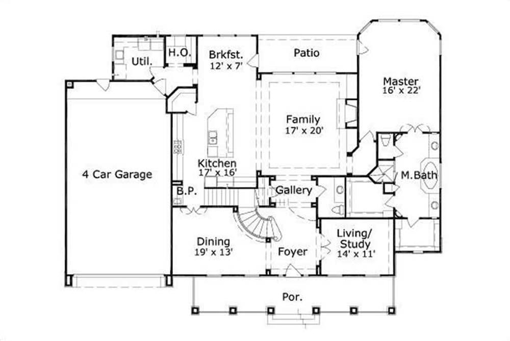 Four car garage house plans home design and style for Garage house floor plans