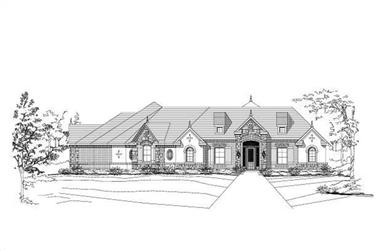 4-Bedroom, 3706 Sq Ft Country Home Plan - 156-2464 - Main Exterior