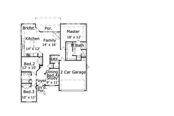 156-2465: Floor Plan Main Level