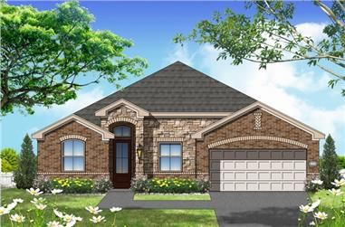 4-Bedroom, 1683 Sq Ft Texas Style House Plan - 156-2465 - Front Exterior