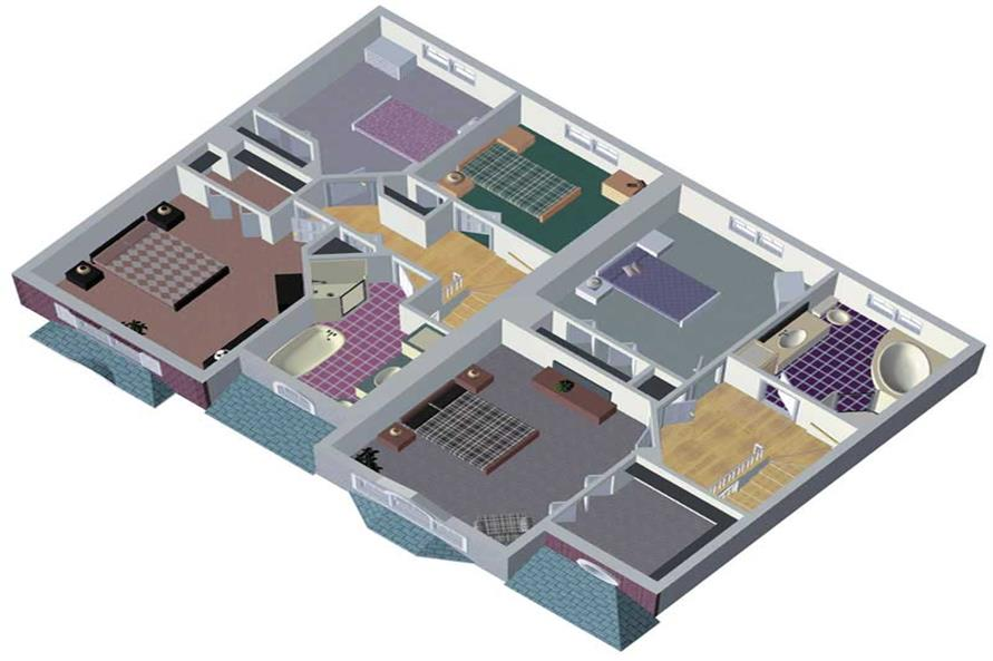 Home Plan Aux Image of this 3-Bedroom,1306 Sq Ft Plan -157-1001