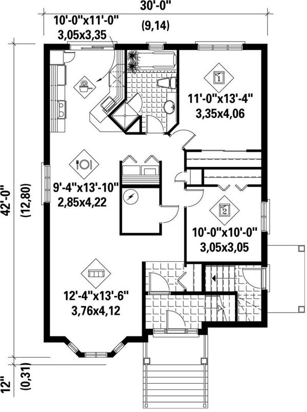 Multi level multi unit house plans home design pi 40008 for Multi level house plans