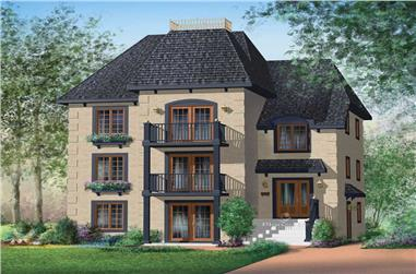 3-Bedroom, 1255 Sq Ft Multi-Level House Plan - 157-1004 - Front Exterior