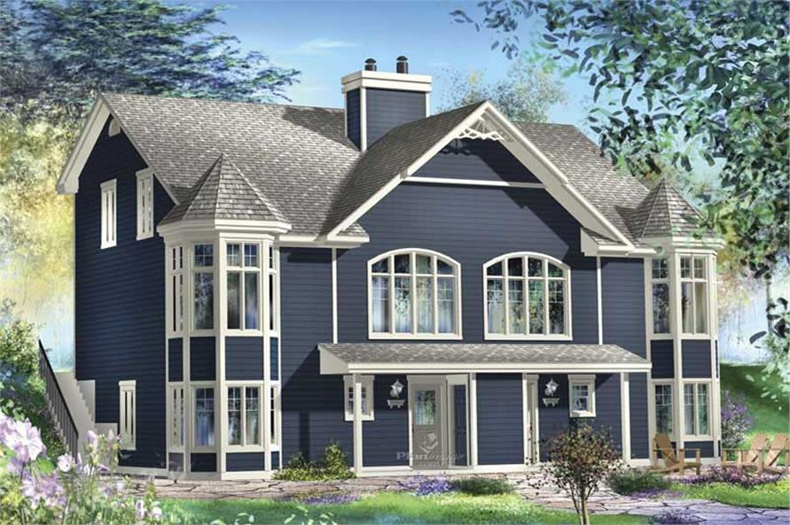 3-Bedroom, 1899 Sq Ft Multi-Unit House Plan - 157-1006 - Front Exterior