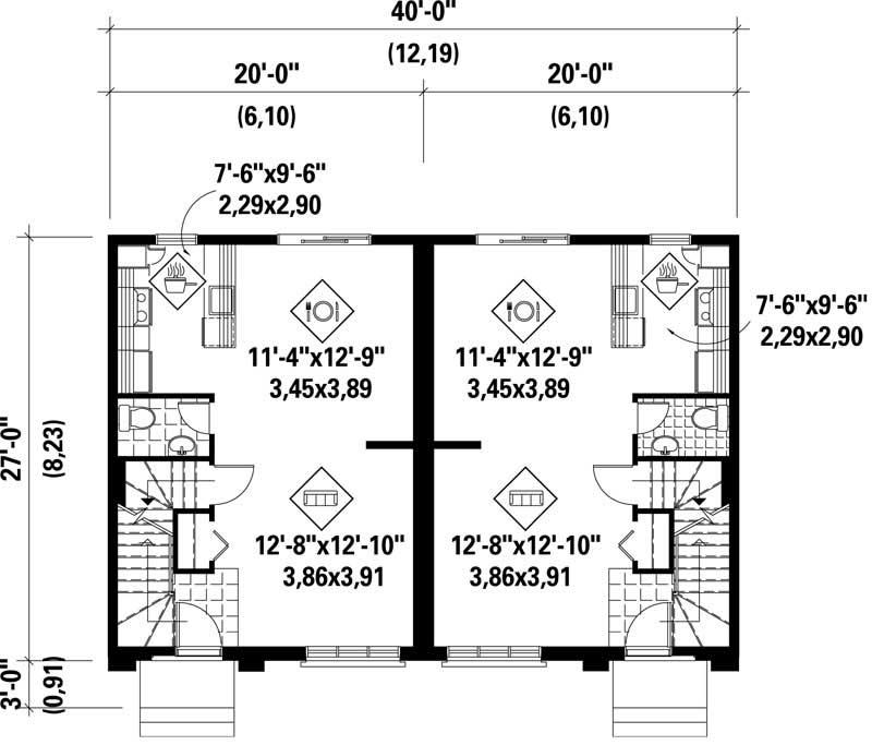 Multi unit house plans home design pi dnc210006 17927 for Multi unit home plans