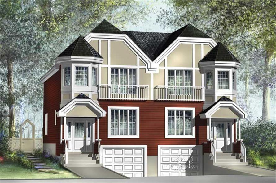 3-Bedroom, 1772 Sq Ft Multi-Level House Plan - 157-1013 - Front Exterior