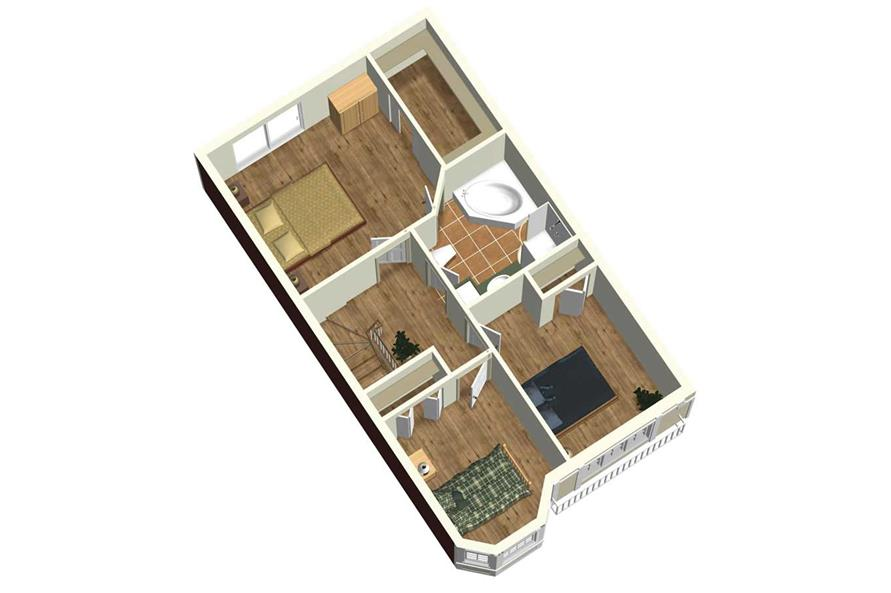 SECOND FLOOR 3D IMAGE of this 3-Bedroom,1772 Sq Ft Plan -1772