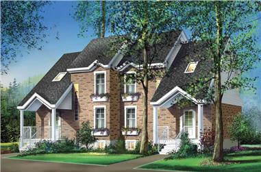 4-Bedroom, 2250 Sq Ft Multi-Unit House Plan - 157-1014 - Front Exterior