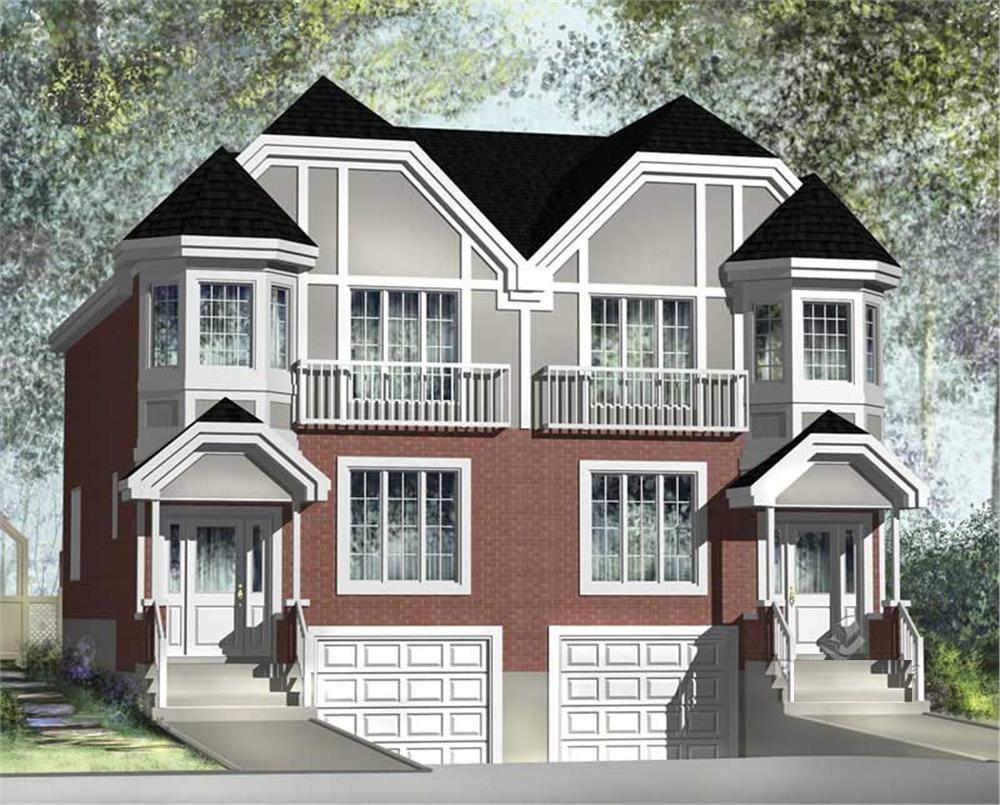 Multi unit house plan 157 1017 6 bedrm 3544 sq ft per unit home - Multi unit house plans family friends ...
