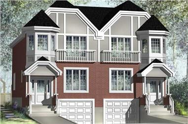 6-Bedroom, 3544 Sq Ft Multi-Unit Home Plan - 157-1017 - Main Exterior