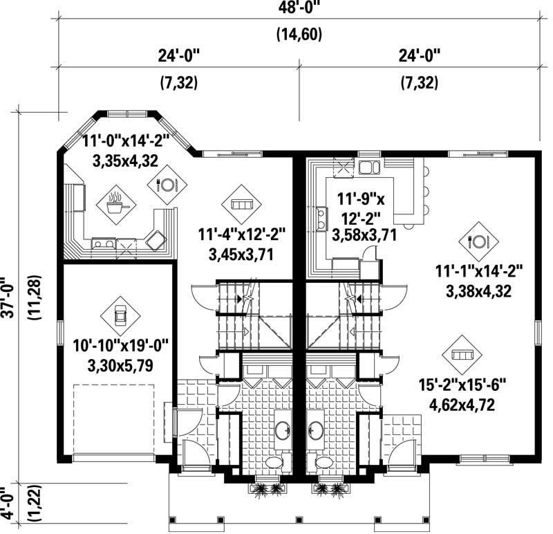Multi Level Multi Unit House Plans Home Design Pi 30139