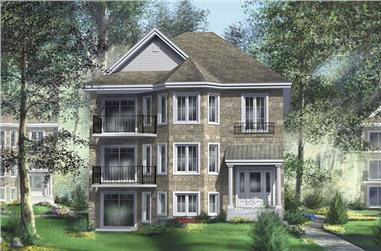 3-Bedroom, 1478 Sq Ft Multi-Level House Plan - 157-1022 - Front Exterior